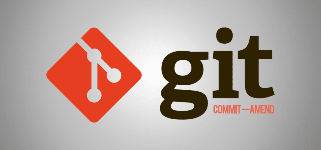 Using git commit amend