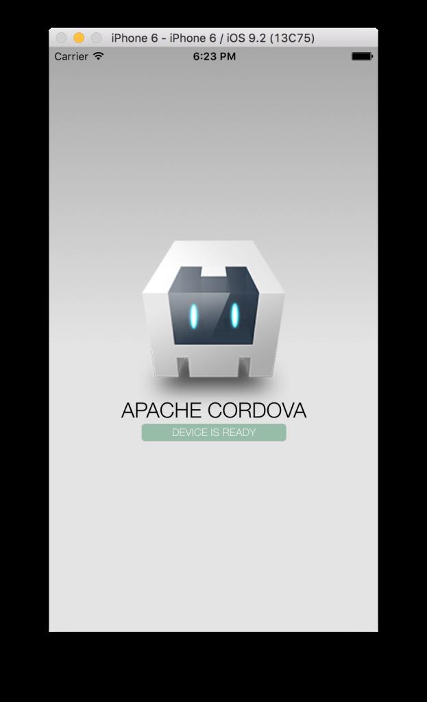 Setup an apache cordova project-first run