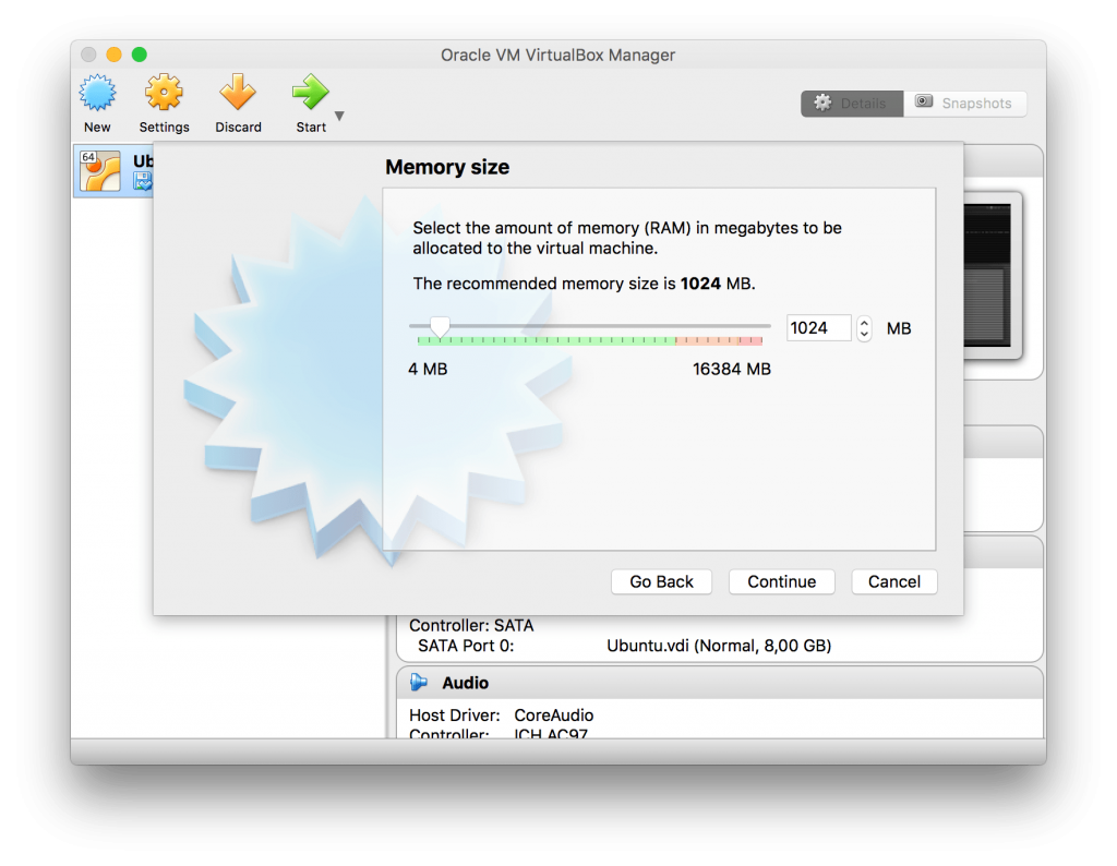 Memory size - VirtualBox