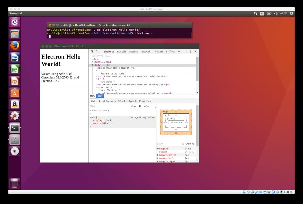 Electron app - ubuntu