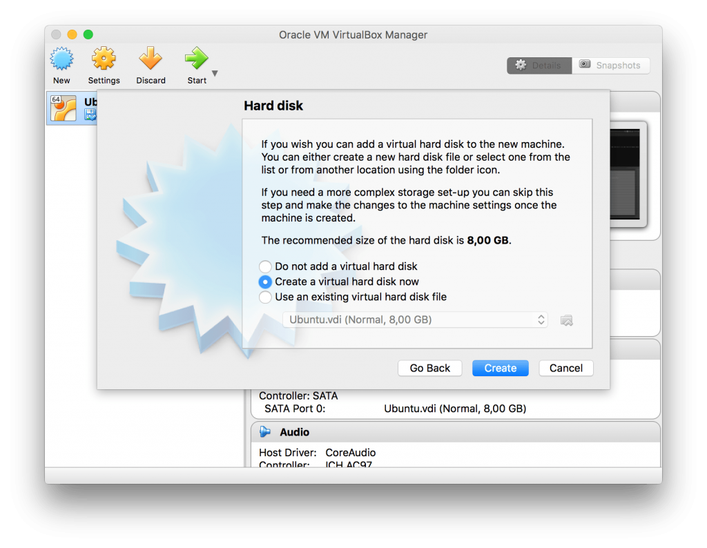 Harddisk size - VirtualBox