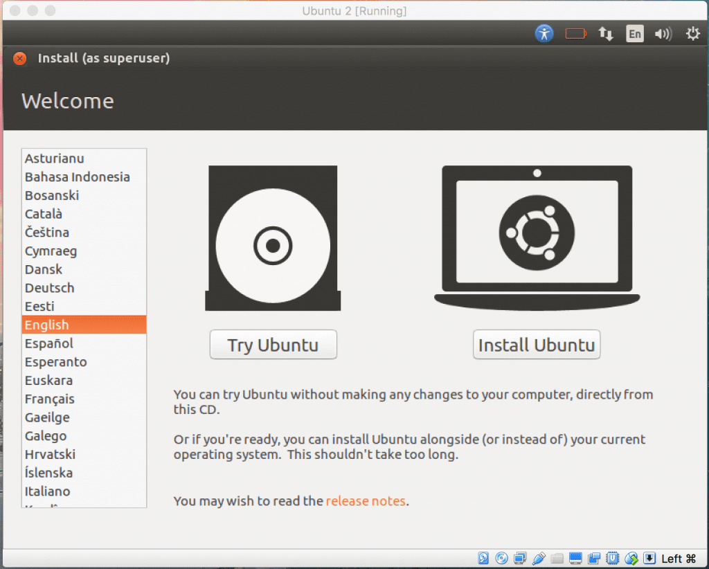 Install Ubuntu - VirtualBox