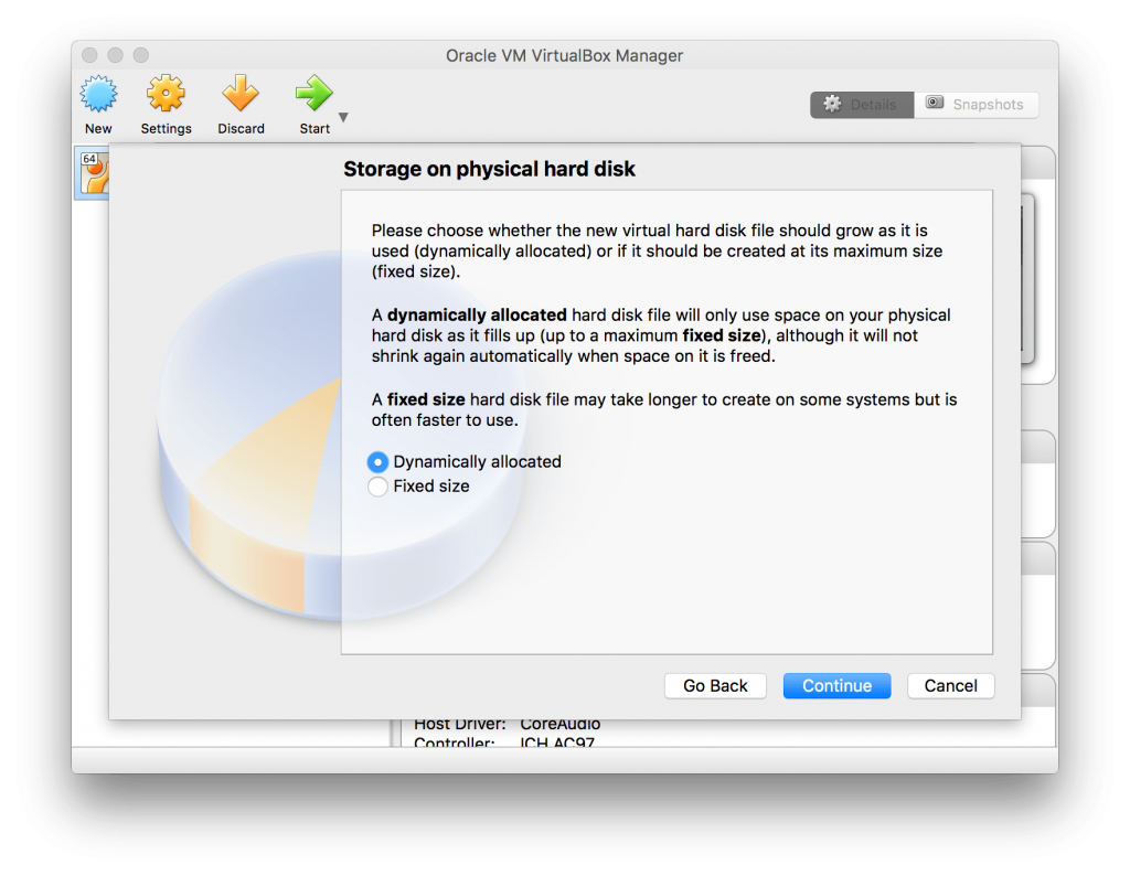 Storage on physical hard disk - VirtualBox