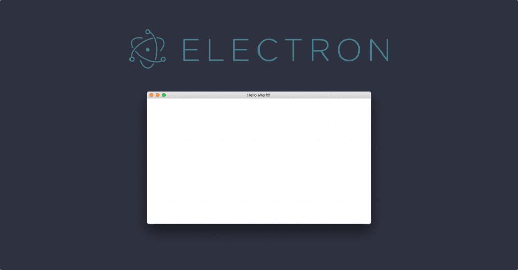 Electron white screen app startup