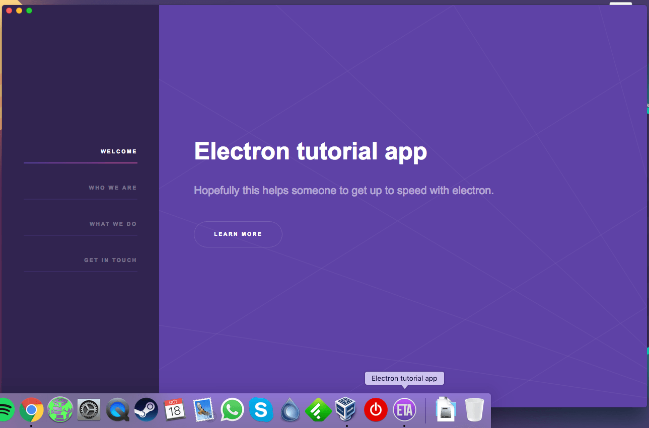 Electron packager mac