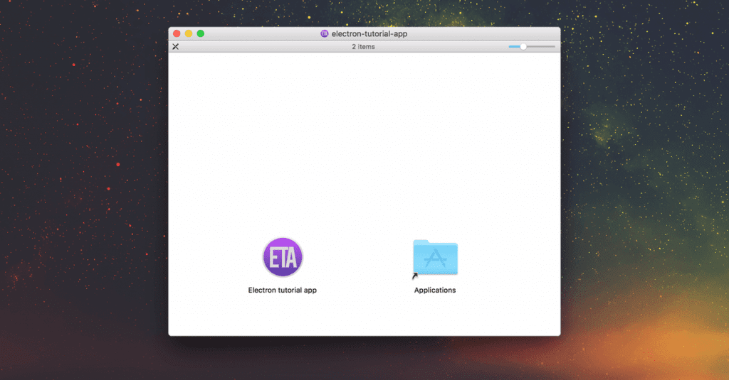 DMG installer for electron app