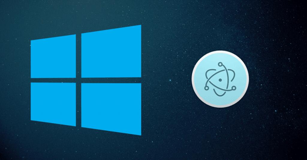 Electron Windows installer tutorial