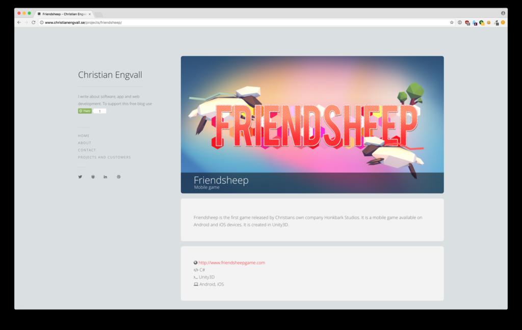 Wordpress developer project plugin - project detail view