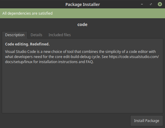 Installing Visual Studio Code and ASP NET Core on Linux Mint